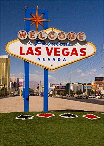 YongFoto 1,5x2,2m Vinyl Foto Hintergrund Willkommen zu Fabulous Las Vegas Zeichen Kasino Lmark Wegzeichen Fotografie Hintergrund für Fotoshooting Portraitfotos Party Kinder Fotostudio Requisiten