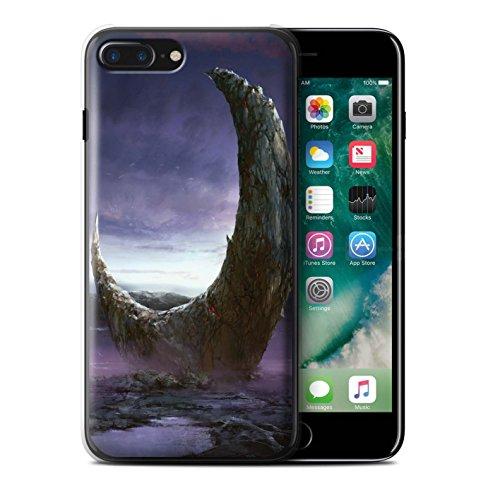 Offiziell Chris Cold Hülle / Case für Apple iPhone 7 Plus / Zerbrochenen Mond Muster / Fremden Welt Kosmos Kollektion Zerbrochenen Mond