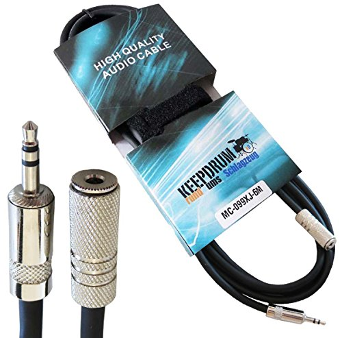 Price comparison product image Keepdrum MC-099XJ Extension Cable 3.5 mm Stereo Mini Audio Jack