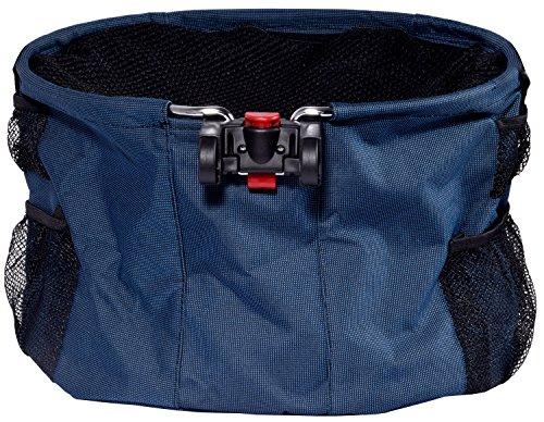 dobar 62100 Walky Basket -  Multifunktions-Fahrradkorb für kleine Hunde und Katzen mit Sicherheitsleine, faltbare Einkaufstasche mit Schultergurt, 40 x 33 x 25 cm, blau