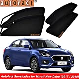 #7: Autofact Magnetic Window Sunshades/Curtains for Maruti Swift Dzire (Black,FS08_Maruti Swift Dzire (2017 / 2018))- Set of 4