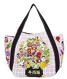 Sanrio Hello Kitty, Japanische Muster, Handtasche Einkaufstasche für Mädchen, 30x49x22cm, Japan Import (Japanische Glücksbringer 4072)