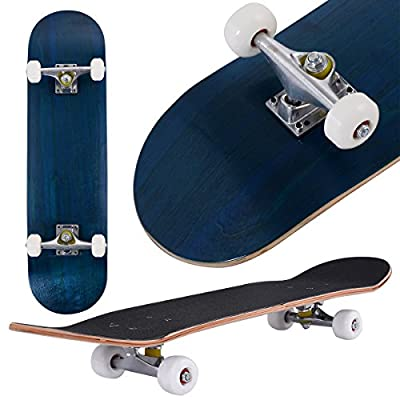 COSTWAY Skateboard 80 x 20 cm   Komplettboard Ahornholz   Minicruiser 8 inch   Holzboard ABEC-7 Kugellager   Longboard Farben zur Wahl