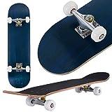 COSTWAY Skateboard Minicruiser Komplettboard Longboard Funboard Holzboard Ahornholz Farben zur Wahl 79 x 20 cm (Blau)