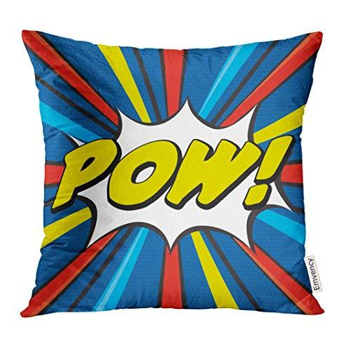 ero Pow Pop Super Comic Book Explosion Decorative Pillow Case Home Decor Square 18x18 Inches Pillowcase ()