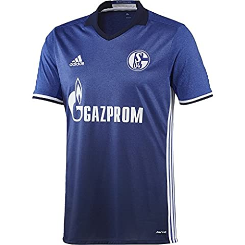adidas Schalke 04 Replica Domicile Maillot Homme, Bold Blue/Blanc, FR : L (Taille Fabricant : L)