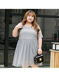Mayihang vestido El Gran Tamaño De Las Mujeres Vestido Encaje Vestido Color.,3Xl,