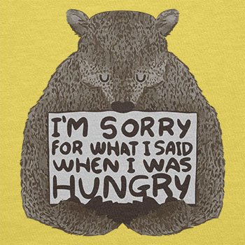 NERDO - I'm sorry for what I said when I was hungry - Herren T-Shirt Gelb