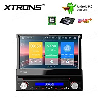XTRONS-7-Single-Din-Android90-Autoradio-mit-Touchscreen-Quad-Core-Bluetooth50-1Din-2GB-RAM-16GB-ROM-DAB-OBD2-CAR-Auto-Play-Freisprech-TPMS-Funktion-Lenkradsteuerung-UNIVERSAL
