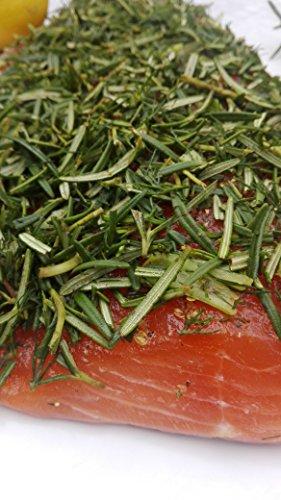 Lachs gebeizt (Graved) mit Honig und frischem Rosmarin 1.1kg ✔ Mit frischen Kräutern und Bio Zitrusfrüchen in eigener Manufaktur hergestellt -