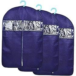 3 tlg Set Umweltschutz Kleidersack mit Sichtfenster, Sunmoch 60x88cm,108 x 60 cm ,60x128cm Atmungsaktive Kleiderhülle aus wasserabweisendem Vliesstoff Material, Anzughülle Schutz für Lhre Anzüge und Kleider