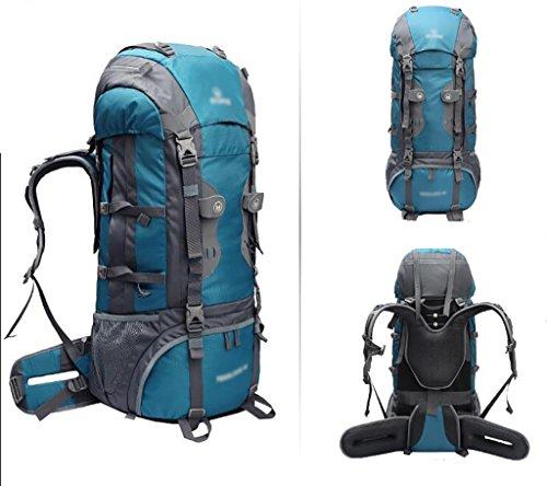 HWLXBB Outdoor Rucksack Sport Reisen Bergsteigen Tasche Walking Wasserdichte Rucksack 60L Rucksack C