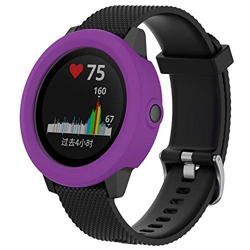 Bemodst weiche Silikonhülle für Garmin Vivoactive 3GPS Smartwatch, Ersatz, Zubehör, stoßfest und bruchfest, Schutzhülle, violett