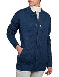 Wool Overs Gilet Femme à fermeture éclair et boutons Pure Laine