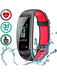 LATEC Montre Connectée [Dernière Version], Smartwatch Bracelet Connecté Podomètre IP68 Étanche Fitness Tracker pour Femme Homme Enfant …