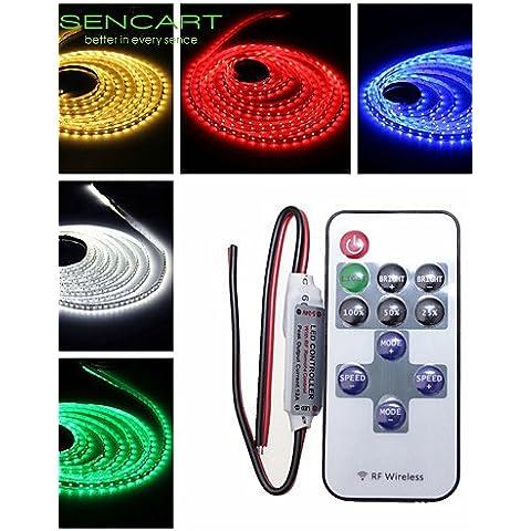 XMQC*5M 25W 300x3528 verde / blu / rosa / Giallo / Rosso / Bianco freddo / Bianco caldo Striscia LED lampada + 11-chiave controller RF , bianco