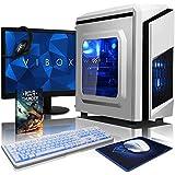 "VIBOX Pyro GS450-127 Gaming PC Ordenador de sobremesa con Cupón de juego, 22"" HD Monitor (4,0GHz AMD FX Quad-Core Procesador, Nvidia GeForce GTX 1050 Tarjeta Grafica, 8GB RAM, 1TB HDD, Sin OS)"