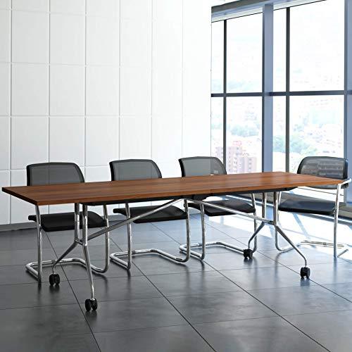 Weber Büro Falttisch Klapptisch 2.400 x 1.000 mm Libro Nussbaum Konferenztisch klappbar rollbar auf...