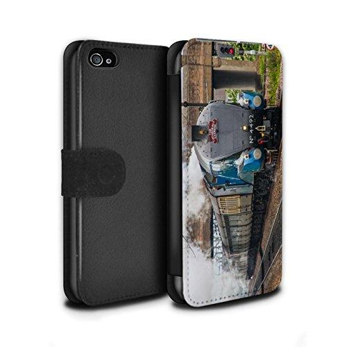 Stuff4 Coque/Etui/Housse Cuir PU Case/Cover pour Apple iPhone 4/4S / Duchess/Gare Design / Locomotive Vapeur Collection Dominion NZ
