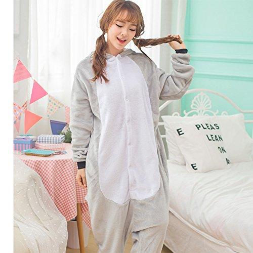 Unisex Einteiler-Pyjama, Erwachsene Flanell Schlafanzug, Tier-Schlafanzug Onesie Koala-Bär L - 3