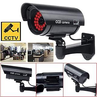 AIBULO Best Dummy Sicherheitskamera mit Blinklicht (schwarz)