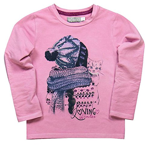 boboli - Camiseta Punto Elástico, T-Shirt da bimba, ciclamino, 6 anni