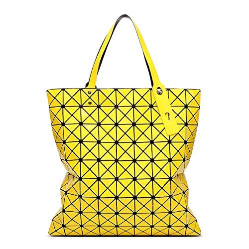 STRAWBERRYER Sac à Dos Géométrique Sacs à Bandoulière En Cuir Pour Femmes Sacs à Main En Sac Fourre-tout yellow