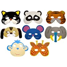 8 Assorted Foam Animal Masks (máscara/ careta)