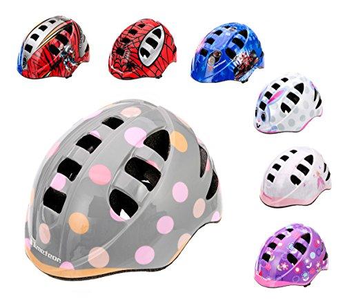 Kinder Fahrradhelm, Skaterhelm, Sicherheitshelm METEOR MA-2 DOTS SIZE: M 52 bis 56 cm 235 g