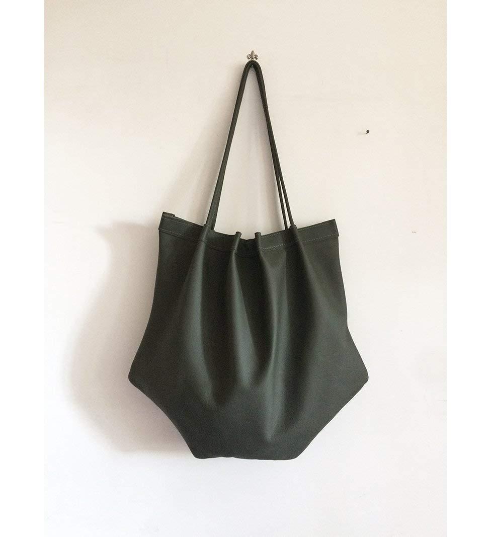 tote bag leather, green crossbody real italian leather, hobo leather bag, soft leather purse, leather hobo handbag, my cross body hobo bag, BBagdesign - handmade-bags