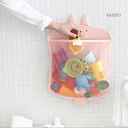 Aufbewahrung für Badespielzeug von Kidlife, für das Badezimmer, starke Saugnäpfe, Organiser zum Befestigen an der Wand, Duschkorb, Spielzeugtasche für die Dusche