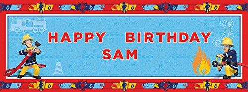 """Amscan International 1,2m x 45cm personalisierte Banner """"Feuerwehrmann Sam"""""""