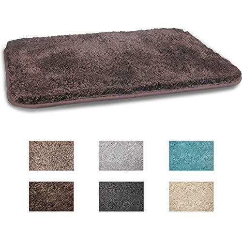 Fcsdetail tappeti da bagno a pelo lungo antiscivolo 50x80 cm, tappetino lavabile in lavatrice con microfibre morbide assorbenti per vasca, doccia e bagno