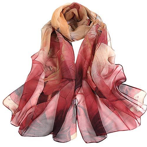 TIFIY Damen Schal Schals, Damen Halloween Tanzen Zubehör Lotus Printing Lange Wrap Schal Party Schals Kostüm ()