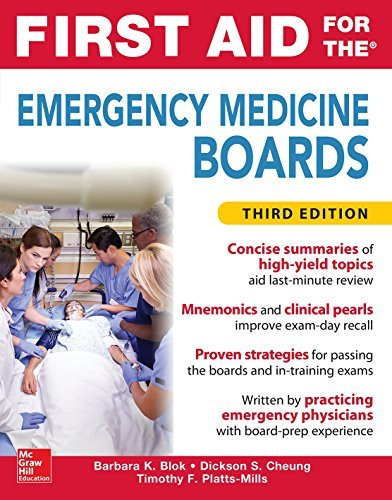 First Aid for the Emergency Medicine Boards Third Edition by Barbara K. Blok (2016-05-17)