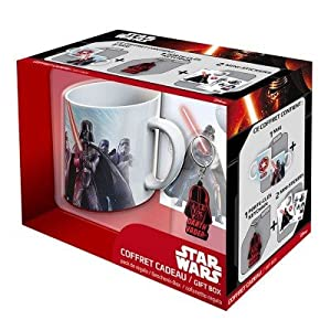 ABYstyle - Star Wars Gift Box Taza con llavero y Sticker Darth Vader Unisex-Adult, abypck075