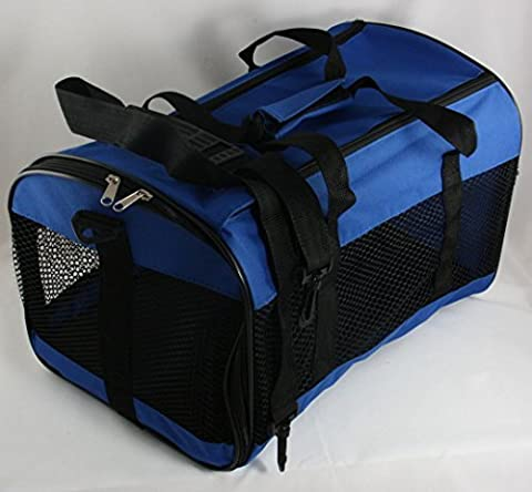 Collapsible Pet Carrier Mesh Cat Dog Carrying Handle Red or Blue