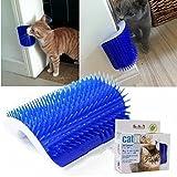 Tierbedarf für Katze und Hund, Für Haustier Katze Massager Pinsel Groomer Trimmen Haarentfernung Massage Werkzeuge (Color : Blue)