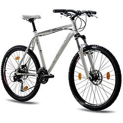 CHRISSON - COLONISATOR Bicicleta de montaña, tamaño 26'' (66,0 cm), color blanco matt, 24 velocidades
