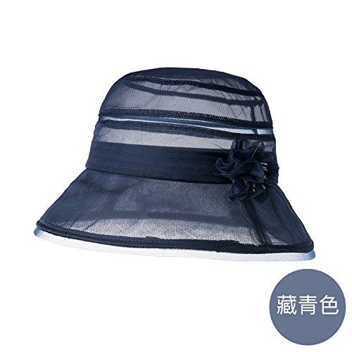 LLZTYM Chapeau/Femme/Été/Parasol/Extérieur/Sortie/Chapeau De Soleil/Chapeau De Pêcheur/Chapeau/Tête/Cadeau/Cadeau Blue