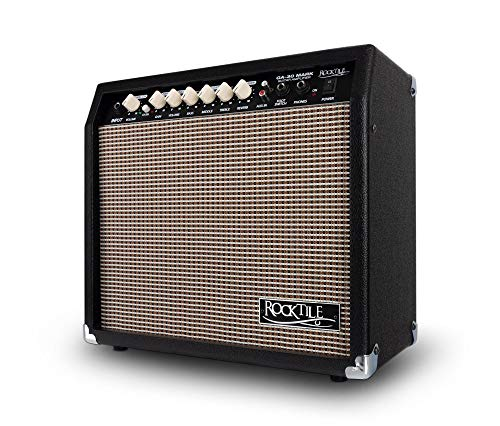 "Rocktile GA-30 Mark Gitarrenverstärker (30 Watt Gitarrencombo, 2 Kanäle (Clean/Drive), 8\"" Speaker, mit Hall-Effekt schwarz"
