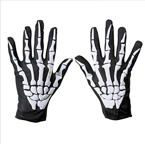 Skeleton - Guantes de esqueleto para Halloween