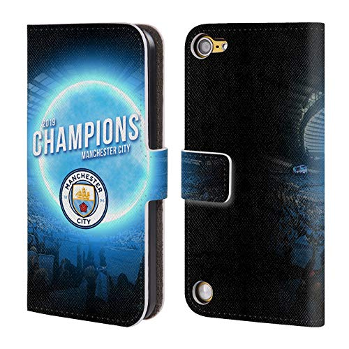 Head Case Designs Offizielle Manchester City Man City FC Blauer Mond 2019 Champions Leder Brieftaschen Huelle kompatibel mit Touch 5th Gen/Touch 6th Gen (32gb Ipod Touch Blau)