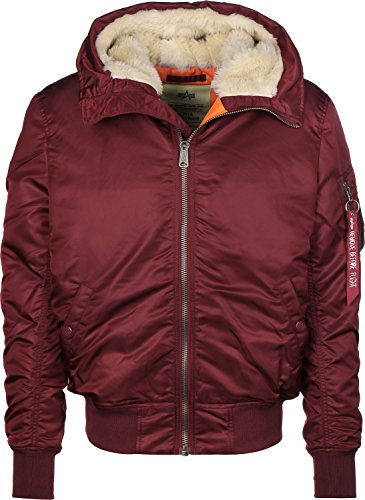 Alpha Industries Herren Bomberjacke MA-1 Hooded rot S