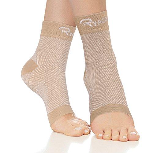 RYACO Kompressionsstrümpfe für Männer & Frauen - Fersensporn Bandage Fußbandage - Schmerzlinderung bei Plantarfasziitis, Knöchelschmerzen und Schwellungen