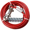 AB Tools 2 X Extra Strong Dog Stake Out SpikeS & 2X 15ft Weather Resistant Tie-Out Cable by AB Tools
