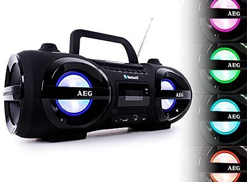 Stereoanlage Soundbox Ghettoblaster Boombox CD MP3 Bluetooth UKW AEG schwarz