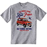 Teesandengines Men's RENAULT 4L Grey T-Shirt Size Large