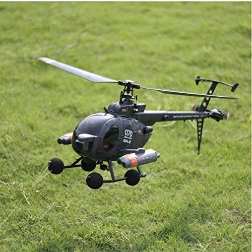 Paleo FX070C 2.4G 4CH 6-Achsen-Gyro Flybarless MD500 Scale RC Hubschrauber