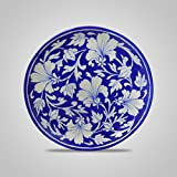 #5: Blue Pottery Decorative Wall Plate (9